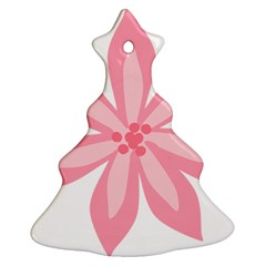 Pink Lily Flower Floral Christmas Tree Ornament (two Sides) by Alisyart
