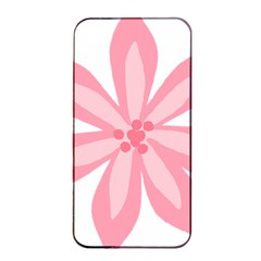 Pink Lily Flower Floral Apple Iphone 4/4s Seamless Case (black) by Alisyart
