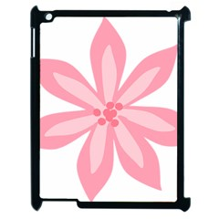 Pink Lily Flower Floral Apple Ipad 2 Case (black) by Alisyart
