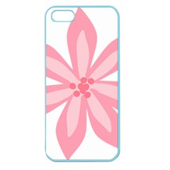 Pink Lily Flower Floral Apple Seamless Iphone 5 Case (color)