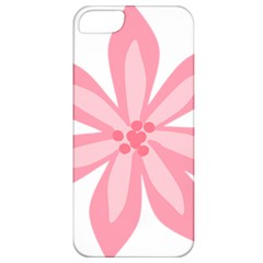 Pink Lily Flower Floral Apple Iphone 5 Classic Hardshell Case by Alisyart