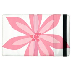 Pink Lily Flower Floral Apple Ipad 2 Flip Case by Alisyart
