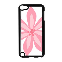 Pink Lily Flower Floral Apple Ipod Touch 5 Case (black) by Alisyart