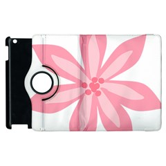 Pink Lily Flower Floral Apple Ipad 3/4 Flip 360 Case by Alisyart