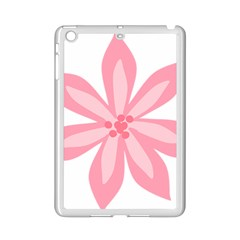 Pink Lily Flower Floral Ipad Mini 2 Enamel Coated Cases
