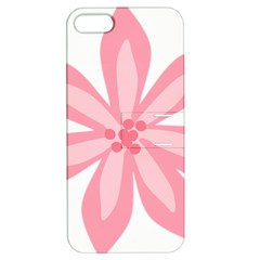 Pink Lily Flower Floral Apple Iphone 5 Hardshell Case With Stand by Alisyart