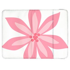Pink Lily Flower Floral Samsung Galaxy Tab 7  P1000 Flip Case