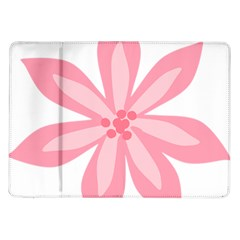 Pink Lily Flower Floral Samsung Galaxy Tab 10 1  P7500 Flip Case