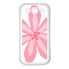 Pink Lily Flower Floral Samsung Galaxy S3 Back Case (white) by Alisyart