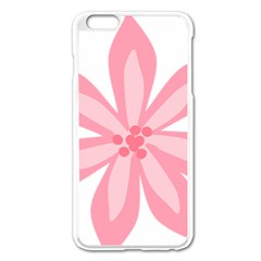 Pink Lily Flower Floral Apple Iphone 6 Plus/6s Plus Enamel White Case by Alisyart