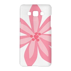 Pink Lily Flower Floral Samsung Galaxy A5 Hardshell Case  by Alisyart