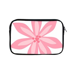 Pink Lily Flower Floral Apple Macbook Pro 13  Zipper Case by Alisyart