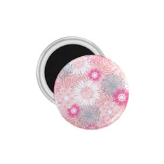 Flower Floral Sunflower Rose Pink 1 75  Magnets by Alisyart