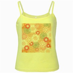 Flower Floral Sunflower Rose Pink Yellow Spaghetti Tank by Alisyart