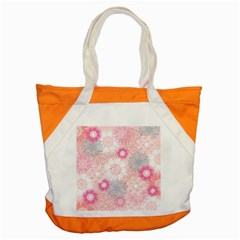 Flower Floral Sunflower Rose Pink Accent Tote Bag