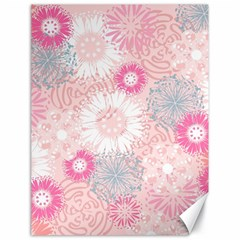 Flower Floral Sunflower Rose Pink Canvas 18  X 24   by Alisyart