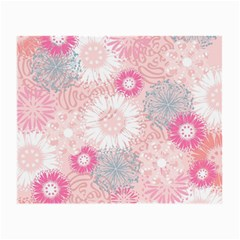 Flower Floral Sunflower Rose Pink Small Glasses Cloth (2 Side) by Alisyart