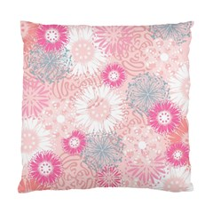 Flower Floral Sunflower Rose Pink Standard Cushion Case (two Sides) by Alisyart