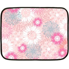 Flower Floral Sunflower Rose Pink Fleece Blanket (mini) by Alisyart