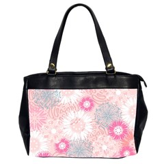 Flower Floral Sunflower Rose Pink Office Handbags (2 Sides)  by Alisyart