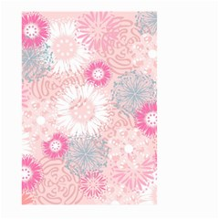 Flower Floral Sunflower Rose Pink Large Garden Flag (two Sides) by Alisyart