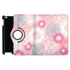Flower Floral Sunflower Rose Pink Apple Ipad 2 Flip 360 Case by Alisyart