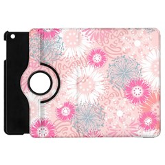 Flower Floral Sunflower Rose Pink Apple Ipad Mini Flip 360 Case by Alisyart