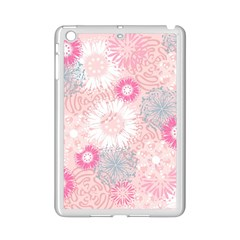 Flower Floral Sunflower Rose Pink Ipad Mini 2 Enamel Coated Cases