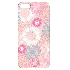 Flower Floral Sunflower Rose Pink Apple Iphone 5 Hardshell Case With Stand