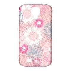 Flower Floral Sunflower Rose Pink Samsung Galaxy S4 Classic Hardshell Case (pc+silicone) by Alisyart