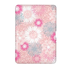 Flower Floral Sunflower Rose Pink Samsung Galaxy Tab 2 (10 1 ) P5100 Hardshell Case  by Alisyart