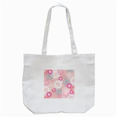 Flower Floral Sunflower Rose Pink Tote Bag (white)