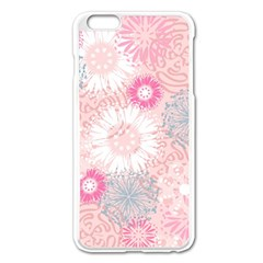 Flower Floral Sunflower Rose Pink Apple Iphone 6 Plus/6s Plus Enamel White Case by Alisyart