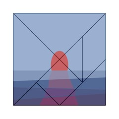 Sunrise Purple Orange Water Waves Acrylic Tangram Puzzle (6  X 6 ) by Alisyart