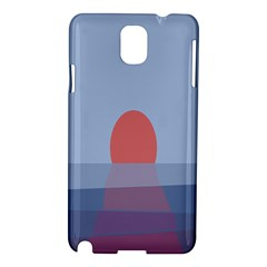 Sunrise Purple Orange Water Waves Samsung Galaxy Note 3 N9005 Hardshell Case by Alisyart