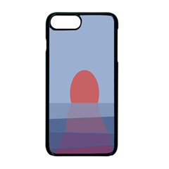 Sunrise Purple Orange Water Waves Apple Iphone 7 Plus Seamless Case (black) by Alisyart