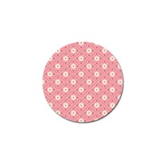Pink Flower Floral Golf Ball Marker (4 Pack) by Alisyart