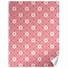 Pink Flower Floral Canvas 12  X 16   by Alisyart