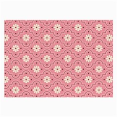 Pink Flower Floral Large Glasses Cloth (2 Side) by Alisyart