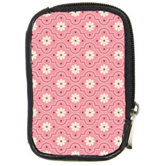 Pink Flower Floral Compact Camera Cases by Alisyart