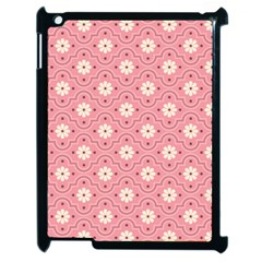 Pink Flower Floral Apple Ipad 2 Case (black) by Alisyart