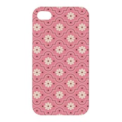 Pink Flower Floral Apple Iphone 4/4s Hardshell Case by Alisyart