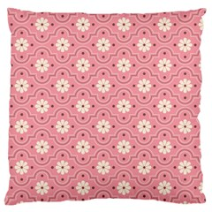 Pink Flower Floral Large Cushion Case (one Side)