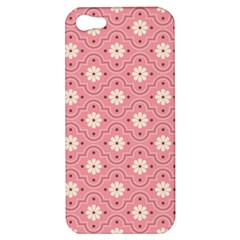 Pink Flower Floral Apple Iphone 5 Hardshell Case by Alisyart