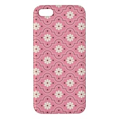 Pink Flower Floral Apple Iphone 5 Premium Hardshell Case by Alisyart