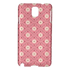 Pink Flower Floral Samsung Galaxy Note 3 N9005 Hardshell Case by Alisyart
