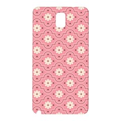 Pink Flower Floral Samsung Galaxy Note 3 N9005 Hardshell Back Case by Alisyart