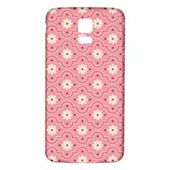 Pink Flower Floral Samsung Galaxy S5 Back Case (white) by Alisyart