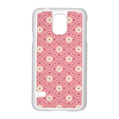 Pink Flower Floral Samsung Galaxy S5 Case (white)