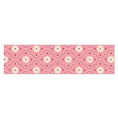 Pink Flower Floral Satin Scarf (oblong)